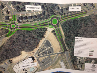 Photo of Road Improvement Project, Courtesy of the Charlotte Observer